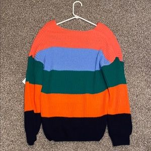 Charlotte Russe Sweaters - Charlotte Russe multicolor striped sweater